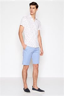 מכנסי כותנה ברמודה קז'ואל לגבר DEVRED דגם 4066095 בצבע תכלת