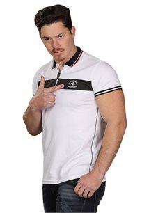 חולצת פולו לגברים SLIM FIT בצבע לבן