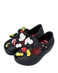 Mini Melissa נעלי בובה (מידות 26-19) - שחור מיני ומיקי מאוס