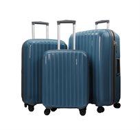 סט 3 מזוודות קשיחות בגדלים שונים עם ידית טרולי טלסקופית CalPaks Stanford