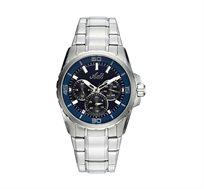 שעון יד מולטיפאנקשן עשוי פלדת אל חלד לגברים - כסף