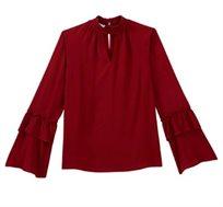 חולצת קרפ צבעונית PROMOD - אדום