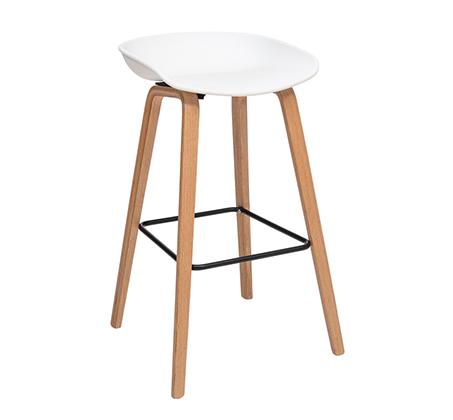 כסא בר ללא משענת למטבח דגם שקד במבחר גוונים לבחירה