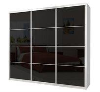 ארונות דגם GC 3 דלתות הזזה זכוכית במבחר צבעים וגדלים