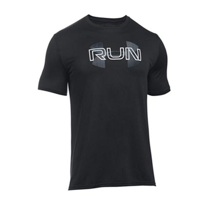 חולצת ריצה UNDER ARMOUR Run Overlap - שחור
