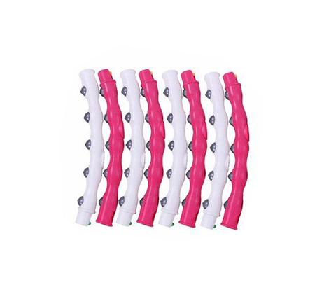 חישוק לאירובי וריקוד הולה הופ עם 48 בליטות לעיסוי 8 חלקים קוטר 108 ס