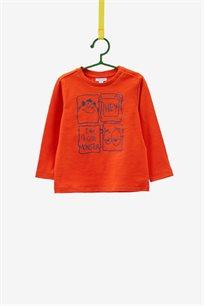 טישרט מודפסת ארוכה OVS לילדים בצבע כתום