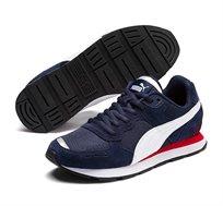 נעלי סניקרס Puma Vista Jr לילדים ונוער - כחול נייבי/לבן/אדום