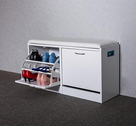 שידת ישיבה מרופדת דגם David כוללת 2 תאים לאחסון נעליים HOMAX - תמונה 2