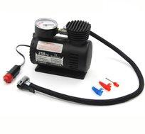 משאבה חשמלית עם חיבור 12 וולט למצת הרכב כולל שעון לחץ אוויר מובנה