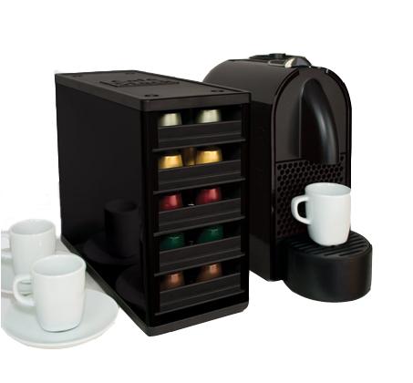 סידור אלגנטי! מעמד לקפסולות קפה מבית Youcopia המתאים ל-60 קפסולות נספרסו ומעוצב בנוחות ויעילות