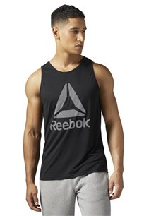 גופיית אימון לגבר REEBOK בצבע שחור