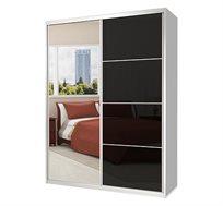 ארון הזזה 2 דלתות משולב מראה וזכוכית דגם MGC במבחר צבעים וגדלים
