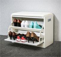 שידת ישיבה מרופדת דגם אריאל כוללת 2 תאים לאחסון נעליים HOMAX