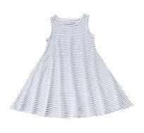 שמלה מסתובבת בלי שרוולים פסים - נייבי