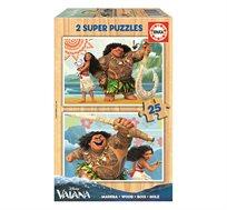 משחק הרכבה הכולל 2 פאזלים מעץ 25 חלקים בדגמי מוהאנה