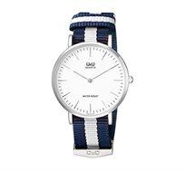 שעון יד Q&Q אפנתי דקיק ומעוצב בעל זכוכית מינרל עמידה בפני שריטות