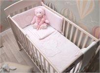 סט מצעים 3 חלקים למיטת תינוק 100% כותנה ג'רסי - ורוד