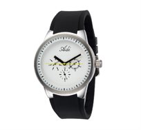 שעון יד לגבר מבית ADI בעל עיצוב צעיר ומדליק בעל רצועת סיליקון נוחה, זכוכית מינרלית ועמידות למים 100M