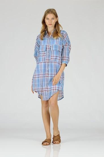 שמלה פייג - כחול