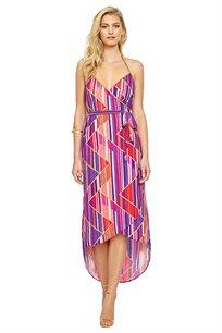 שמלת חוף עם סגירת מעטפה GOTTEX דגם Art Deco