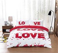 סט מצעים LOVE STORY למיטה זוגית