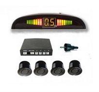 מערכת חיישני רוורס לרכב מתקדמת ובטיחותית עם תצוגה מוארת כולל התקנה חינם