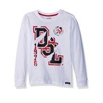 DIESEL / חולצה (16-4 שנים) -לבן כיתוב אדום