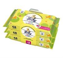 מארז חיסכון הכולל 9 חבילות נייר טואלט לילי לח לילדים - 48 מגבונים בחבילה