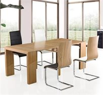 שולחן פינת אוכל מודולרי בצבע עץ טבעי עם הרחבות - דגם TB333