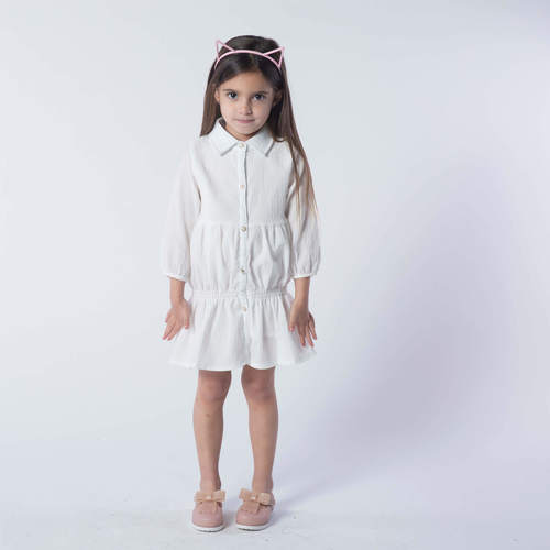 Oro שמלה לבנה (7-2 שנים)