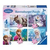 4 פאזלים בקופסא - פרוזן Frozen