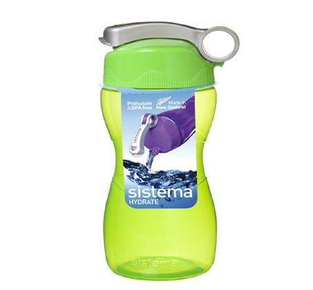 """בקבוק שתייה הידרו פליפ טופ 475 מ""""ל Sistema"""