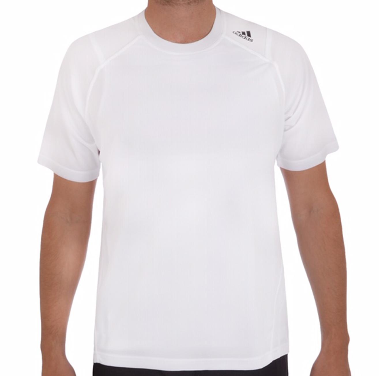 חולצת אימון שכבה כפולה לגברים - לבן