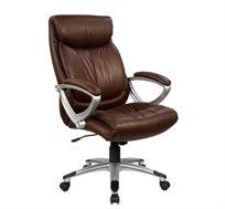 כסא מנהלים אורטופדי מפואר ומפנק דגם רילקס, בריפוד PU איכותי רך ונעים בצבע שחור
