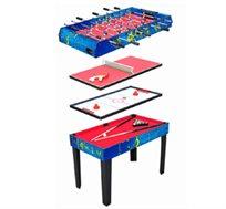 4 משחקים בשולחן אחד! שולחן משולב טניס-כדורגל-הוקי-ביליארד מבית CITYSPORT, עם רגליים יציבות לכל משחק