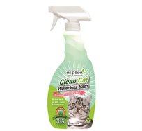 שמפו יבש לחתול clean-cat המכיל תמציות צמחים טבעיות לטיפוח הפרווה ועור החתול