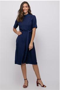 שמלת אריג קלאסית שילוב מעטפת
