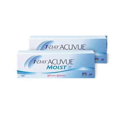מארז של 2 חבילות עדשות מגע יומיות 1Day Acuvue Moist רק ₪110 לחבילה - משלוח חינם - תמונה 2