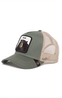 Goorin יוניסקס// Drew Bear Olive כובע מצחיה חיות