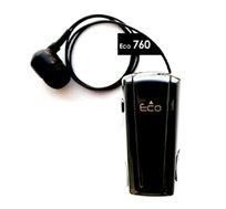 אוזנית בלוטוס - קליפ רולר עם חוט נשלף לנוחות מירבית, בעיצוב חדשני עם שקע טעינה Micro-USB וסוללה חזקה