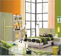 חדר ילדים ונוער איכותי ומושלם הכולל ארון, מיטה, ספריה, שידה וכיסא