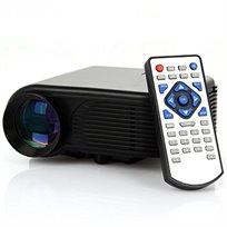 מקרן מולטימדיה HD עוצמתי, עד 120 אינץ' בטכנולוגיית LED כולל שלט רחוק לשליטה מלאה