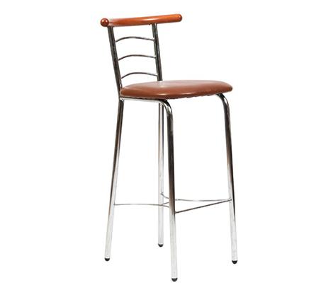כסא בר למטבח בריפוד סקאי דגם ריקי במבחר גוונים לבחירה