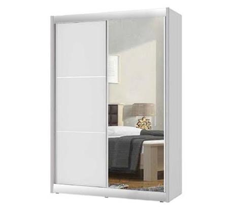 ארון הזזה 2 דלתות כולל טריקה שקטה, כולל דלת מראה קריסטל