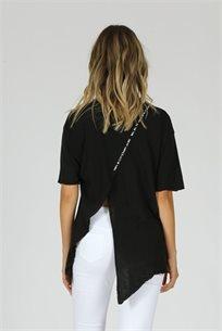 חולצה אלכסון Happy - שחור