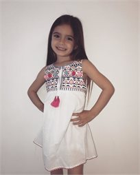 ORO שמלה(7-2 שנים)- לבן עיטורים
