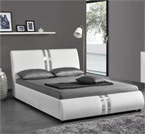 מיטה זוגית מעוצבת בריפוד דמוי עור HOME DECOR