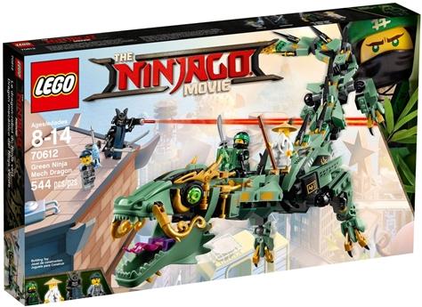 דרקון ניגה ירוק רובוטי נינג'ה גו