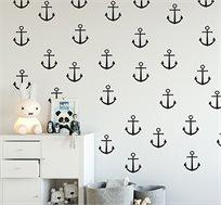 מגוון מדבקות קיר מויניל בדוגמאות וצבעים שונים לחדרי ילדים ונוער